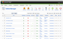 Joomla Article Manager